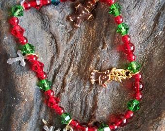 Christmas snowman charm bracelet