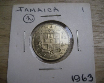 1963 Jamaica Half Penny Brilliant Uncirculated Foreign Coin