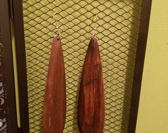 Solid Dark Wood Earrings