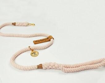 Rope Dog Leash,Pastel Pink color Pet Leash