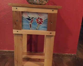 table with stained glass insert