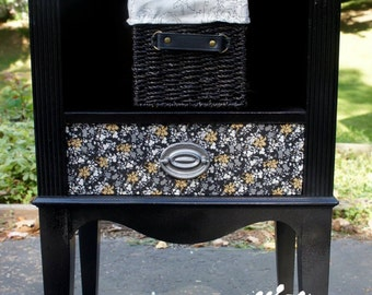 Repurposed Telephone End Table or Night Stand