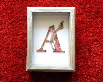 Quilled Monogram A