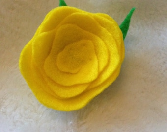 Yellow Rose Hair Accessory
