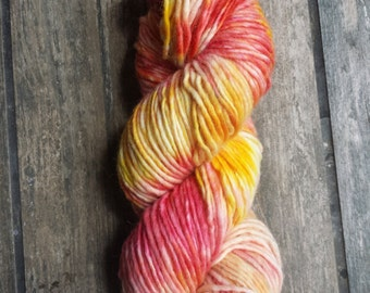 Hand dyed yarn - Tulip Explosion