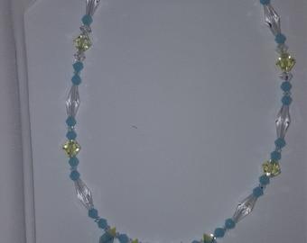 Baby Blue Swarovski Necklace