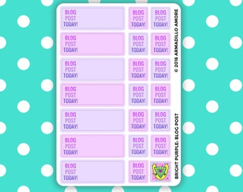Blog Post Today! Reminders {20 Fancy Matte or Glossy Planner Stickers} | #16-13