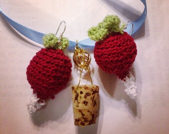 Chrochet Radish Earrings