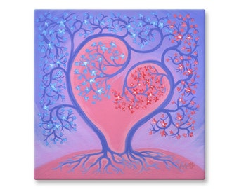 "Canvas Wall Art, Love, Print of Acrylic Painting, 12x12"""