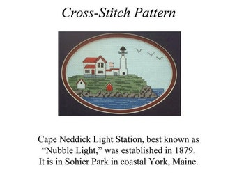 Nubble Light Cross-Stitch Pattern