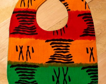 African Graphic Print Baby Bib