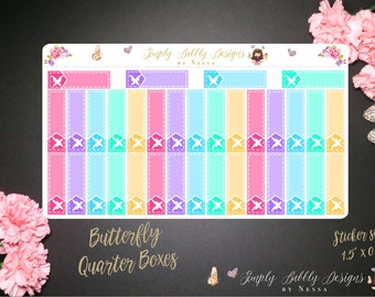 "Butterfly ""Littles"" Quarter Boxes - Planner Stickers"