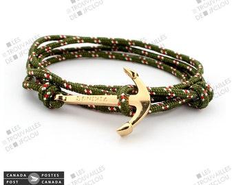 Gold sailor anchor bracelet