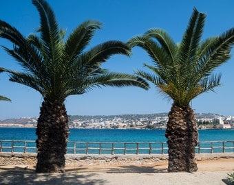 Palm bay - travel photography, Greece, C-Type print
