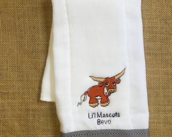 UT Baby Bevo Burp Cloth