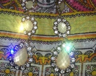 Sparkly Vintage Chandelier Earrings