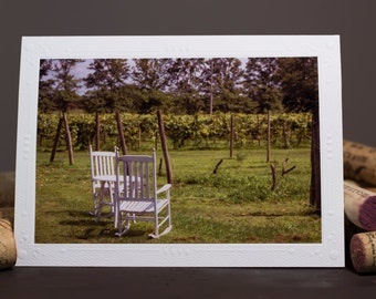 Blank Note Cards, Photography cards, Photography Note Cards, Greeting Cards, Wine Lover, Vineyard, mother's day, father's day cards