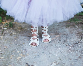 Gladiator BowTie Black White Pink Brown Silver Gold Glitter Sandals