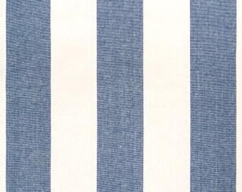 Blue White Stripe 18 X 18 Pillow, Blue Pillow, Stripe Pillow, Accent Pillow, Throw Pillow, Decorative Pillow, Modern Pillow, Handmade Pillow