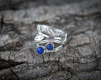 Lapis Lazuli Silver Ring - Silver Ring - Gemstone Ring - Handmade ring