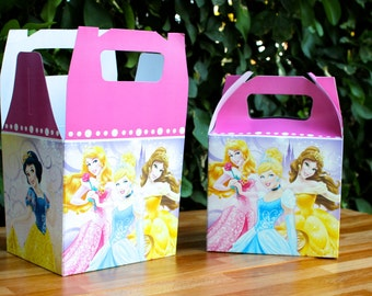 Princess party Treat Box - favor box