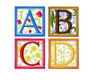 Renaissance Design Machine Embroidery Font, Instant Download, PES format