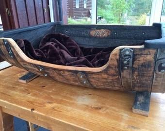 Whisky Barrel Large dog bed