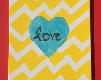 Chevron Love Wall Art