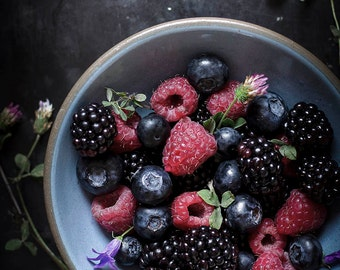 Food photography-Photography Prints-Rustic Kitchen Decor-Still life photography- Berries Photo