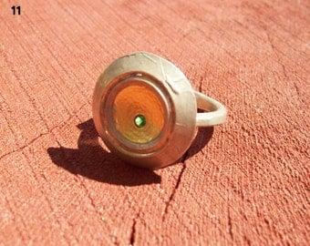 Handmade solid silver ring.