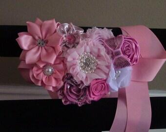 maternity pink sash