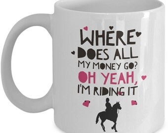 Funny Horse Coffee Mug - Horse Gifts For Women - Horse Lovers Gift - Horse Themed Merchandise