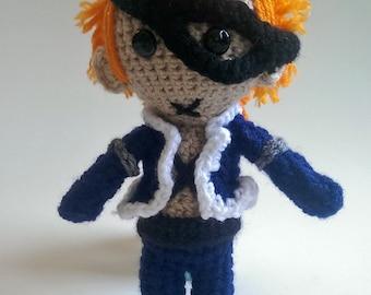 "One Piece 9"" X Drake Crochet Doll Amigurumi"