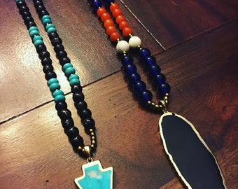 Beaded Charm Necklaces