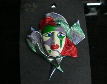 Hand Painted Mask lapel