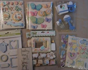 Scrapbooking Baby Boy Embellishment Kits