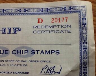 Blue Chip Redemption Certificate