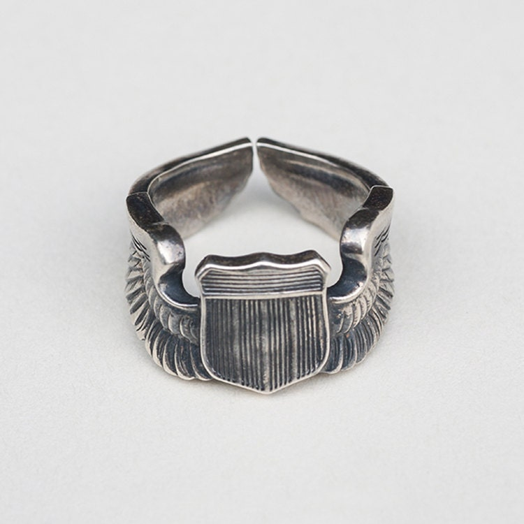 Ww2 Air Force Pilot Wings Ring 950 Sterling Silver Usaf