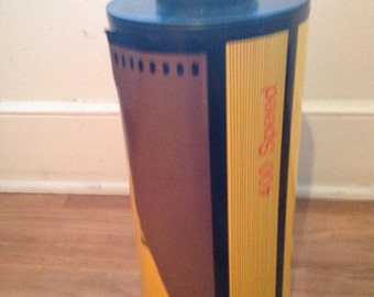 Giant 35mm film canister advertising prop store display