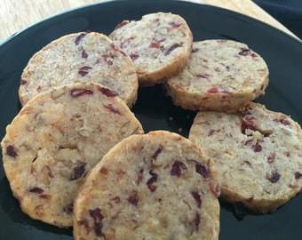 Shorties: Cheddar-Cranberry Savory Shortbread