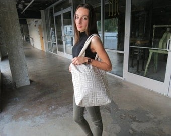 Handmade Canvas Tote Bag With Pocket