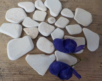 Beach  pottery-sea pottery -set of 22 pieces