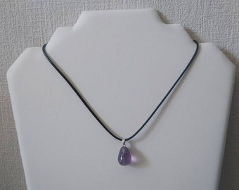 Gem stone Necklace: Amethyst, it is simple but beautiful