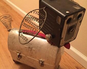 Spartus the Skatehound - vintage found object - assemblage art dog