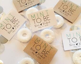 Mint to Be Wedding Favors / Custom Mint Favors / Mint Wedding Favors (50 mints)