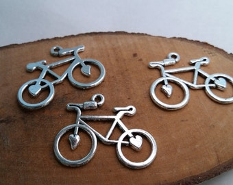 5pc Bicycle with a heart, bike with a heart