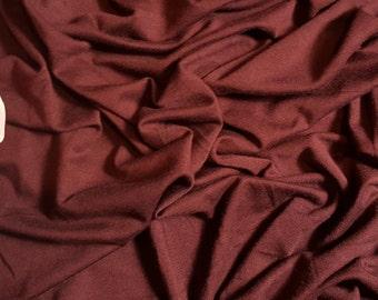 HEAVY RAISIN Rayon Spandex Fabric Stretch Jersey Knit Fabric by the Yard.