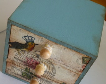 mini chest with decoupage
