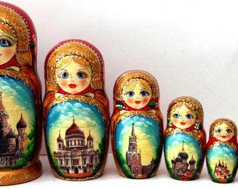 """Matryoshka """"Moscow"""" 7 seats"""