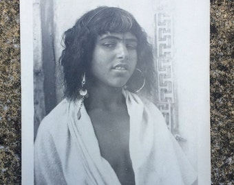 Flash sale Vintage Lehnert & Landrock print of Bedouin girl Cairo photo